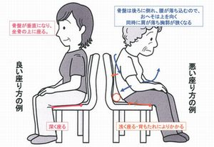 椅子に座る正しい姿勢
